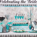 Robin's Egg Blue Bridal Shower Candy Buffet Ideas