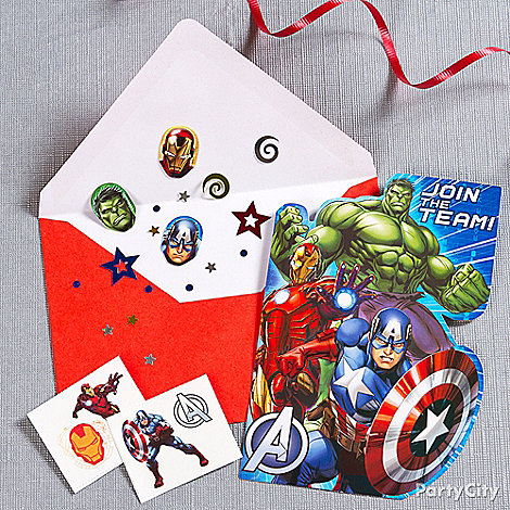 Avengers Party Ideas: Invitations