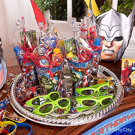 Avengers Party Ideas: Favors