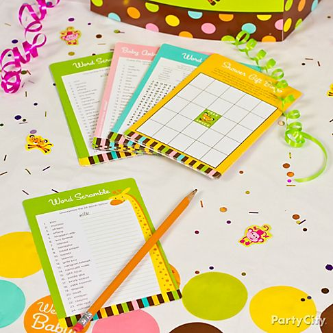 party city baby shower games