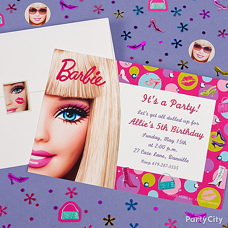 Barbie Birthday Party Ideas Party City – Party City Birthday Invitations