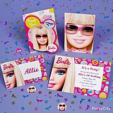 Barbie Party Invitation Ideas
