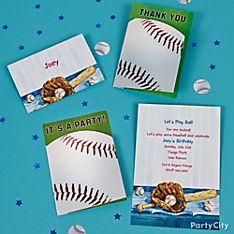 Baseball Party Invitation Ideas