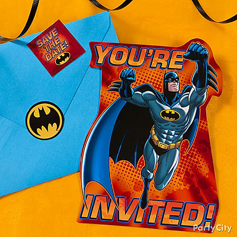 Batman Party Ideas: Invitations