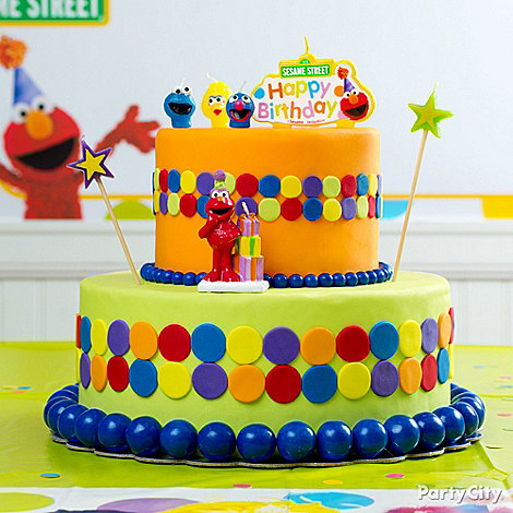 Elmo Birthday Party Ideas Party City - Elmo and abby birthday cake