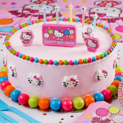 Hello Kitty Frosted Cake HowTo Party City