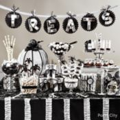 Wicked-Cool 'Black & Bone' Halloween Candy Buffet Ideas