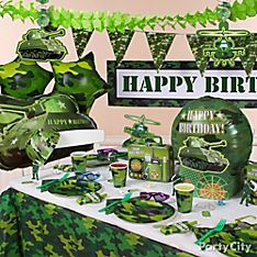 Camo Party Decoration Ideas