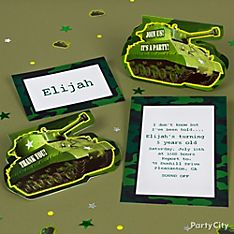 Camo Party Invitation Ideas