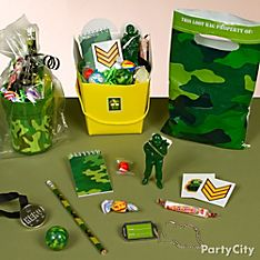 Camo Party Favor Ideas