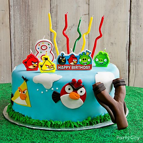 Neon birthday party supplies party city party for Angry birds cake decoration kit