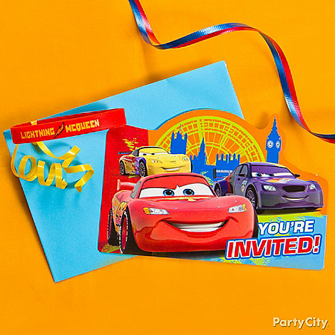 Cars Party Ideas: Invitations