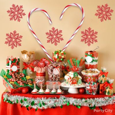 Christmas party ideas tablescapes party city