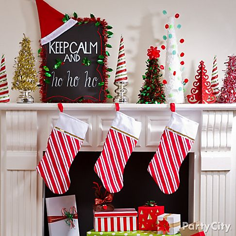 Christmas Mantel Decorating Ideas Party City