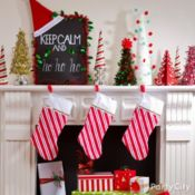 A Sleighful of Jolly Mantel Ideas