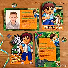 <i>Go, Diego, Go!</i> Party Invitation Ideas