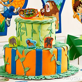 Go Diego Go Fondant Cake HowTo Party City - Go diego go birthday cake