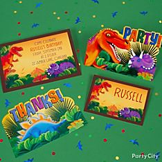 Prehistoric Dinosaurs Party Invitation Ideas