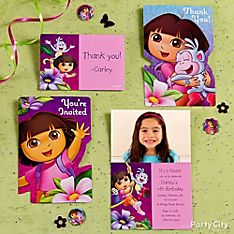Dora Party Invitation Ideas