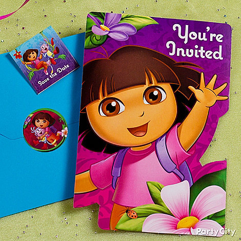 Dora Party Ideas: Invitations