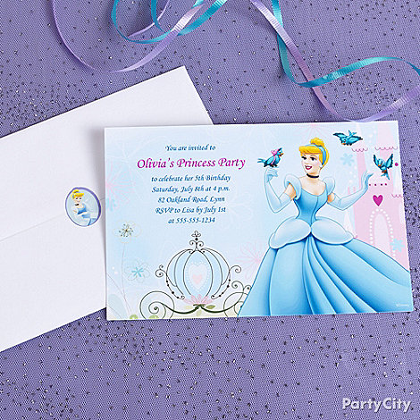 Disney Princess Party Ideas: Invitations