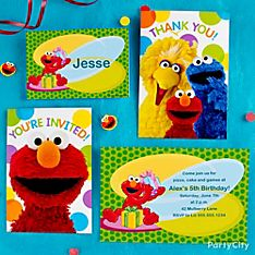 Elmo Party Invitation Ideas