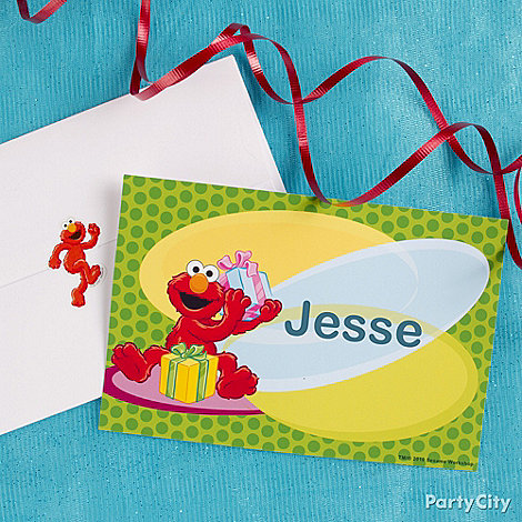 Elmo Party Ideas: Invitations