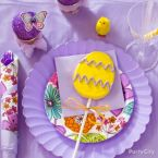 Pretty Purple & Yellow Easter Tablescape Ideas