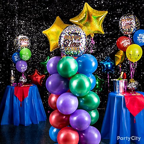 Colorful New Year's Eve Balloon Ideas - Party City
