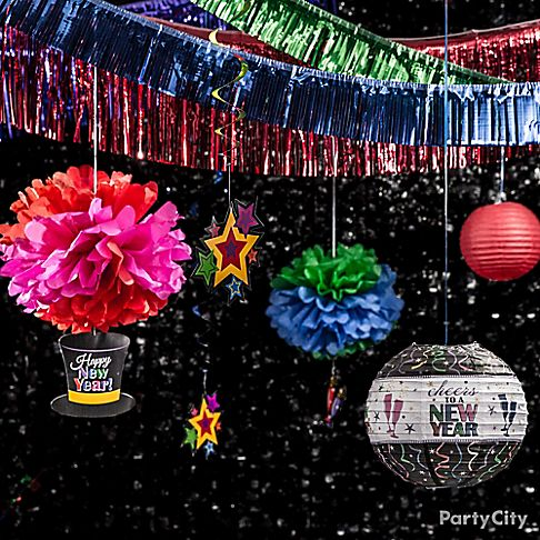 colorful new year decoration - photo #6