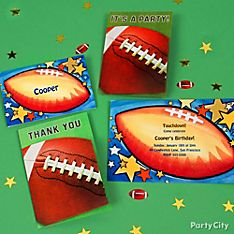 Football Party Invitation Ideas