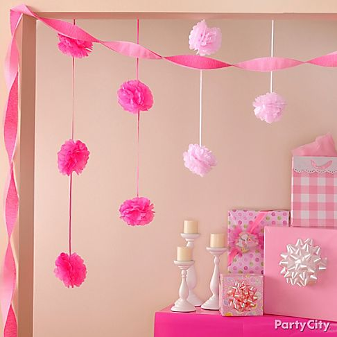 Baby shower decorating ideas party city for Baby girl shower decoration