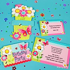Garden Girl Party Invitation Ideas