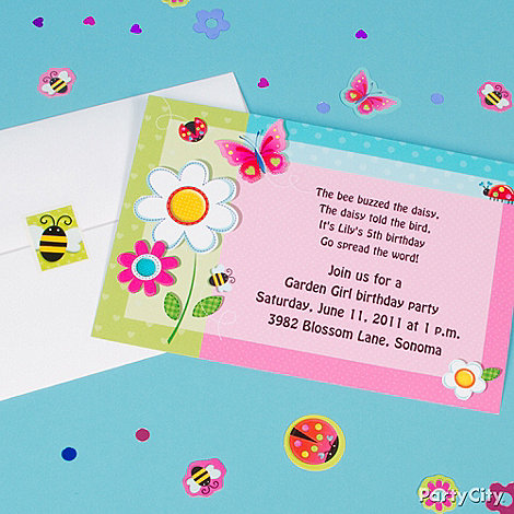 Garden Girl Party Ideas Guide Party City – Flower Party Invitations