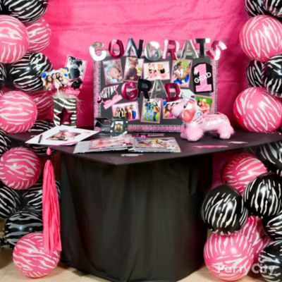 Pink & Zebra Graduation Party Ideas - Party City