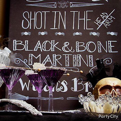 39 Black Bone 39 Halloween Cocktail Party Ideas Party City