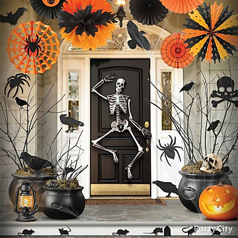 Haunted house entrance ideas party city - Decoration halloween maison ...