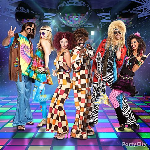 Decade Day Ideas http://www.partycity.com/content/group+costume+ideas+gallery.do