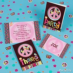Hippie Chick Party Invitation Ideas