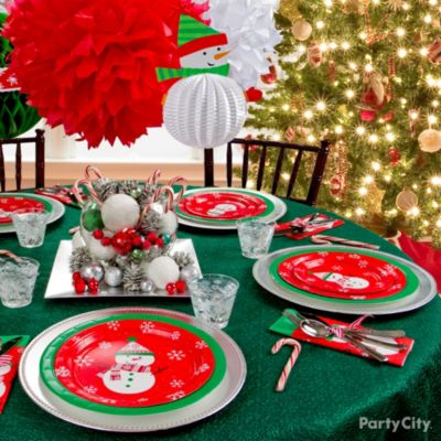 Christmas Party Tablescapes Christmas Party Ideas