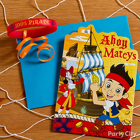 Jake and the Never Land Pirates Ideas: Invitations