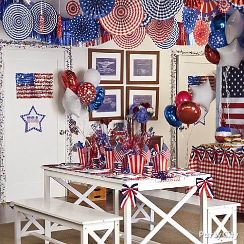 Top patriotic and 4th of july party ideas party city for 4th of july party decoration