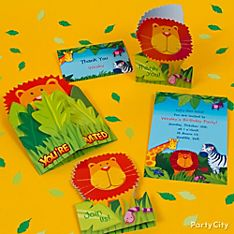 Jungle Animals Party Invitation Ideas