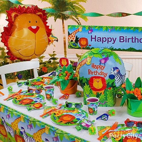 Party supplies for Animal party decoration