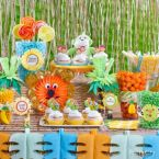 Jungle Animal Baby Shower Candy Buffet Ideas