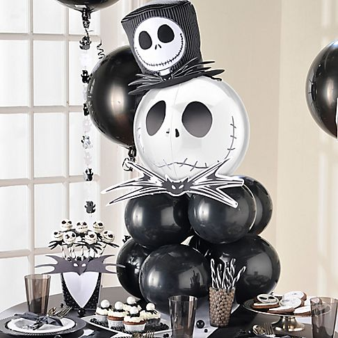 Halloween kid friendly class party ideas party city - Jack skellington decorations halloween ...
