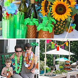 Have A Tiki Tastic Luau In Your Backyard With These Awesome And Easy Ideas Contributed By Little Miss Party Planner Seri Kertzner