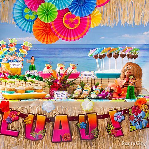 Sweet Ideas For Luau Party Treats Party City