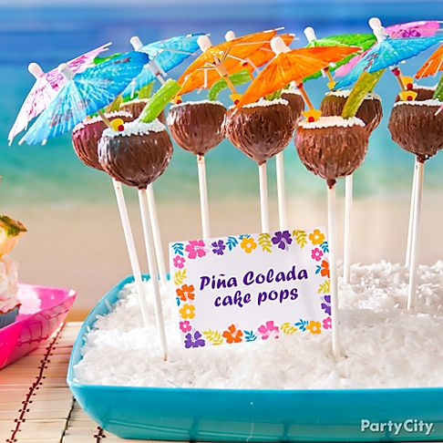 Sweet Ideas For Luau Party Treats
