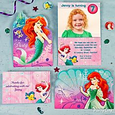 Little Mermaid Party Invitation Ideas